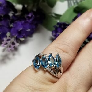 Beautiful VTG Aquamarine 925S Ring